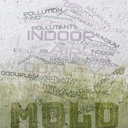 Abstract word cloud for Indoor air quality with related tags and terms